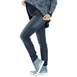NITIS Schwangerschaftshose Maternity Jeans Zuza Umstandshose Damen Hose Straight 36L - L
