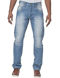 8b8213bda5 ENZO UOMO MODA slavati classico linea dritta denim jeans pantaloni taglie 28 -42