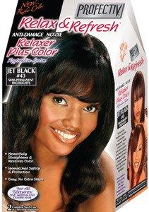 Relaxer / Glättungscreme mit Farbe Profectiv Anti-Damage No-Lye Relaxer Plus Color JET BLACK #43