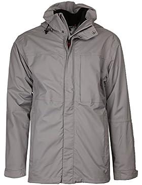 maier sports 2in1Hombre Función chaqueta capucha exterior, Gris