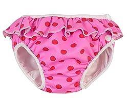 Imsevimse, Badehose für Babys, Schwimmwindel, Rosa, M 7-10kg
