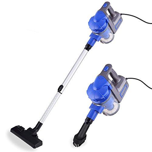 Uten Aspiradora portatil para casa Mano y Vertical aspiradoras Manual sin Bolsa 2 en 1 Limpiador Potente 700W (Azul)