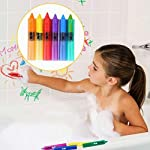 Steellwingsf 6 Pcs Baby Kids Safety Washable Bath Crayons Bathtime Fun Educational Toys Drawing Tool,Art Painting Brushes for Kids,Students,Starter