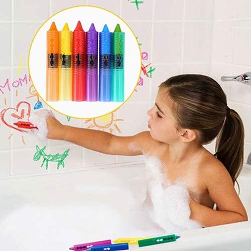 k Baby Kinder Sicherheit waschbare Bad-Wachsmalstifte Badestifte Spaß Lernspielzeug Zeichnungs-Werkzeug, Kunst Malpinsel für Kinder, Studenten, Starter multi ()