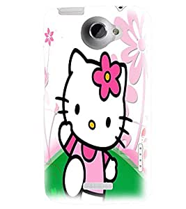 Printvisa Pink Kitty Back Case Cover for HTC One X::HTC One XT::HTC 1X