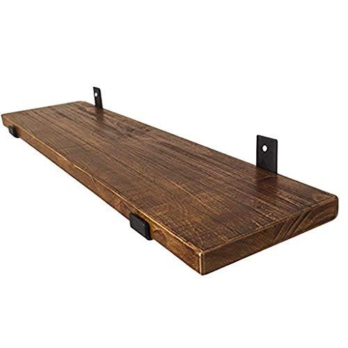 PAN 31-Zoll Distressed Holz Wandmontierte Floating Regal, Home Storage Organizer Rack, hängen Display Rack mit schwarzen Metallklammern (größe : 40cm)