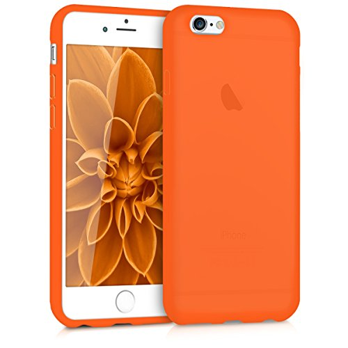 kwmobile Apple iPhone 6 / 6S Hülle - Handyhülle für Apple iPhone 6 / 6S - Handy Case in Neon Orange