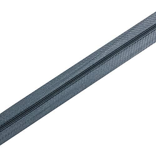von kissenwelt Reißverschluss, Meterware Endlosreißverschluss 3 mm, FARBEN NACH WAHL, 1 Schieber pro FARBE, Farbe:319 grau