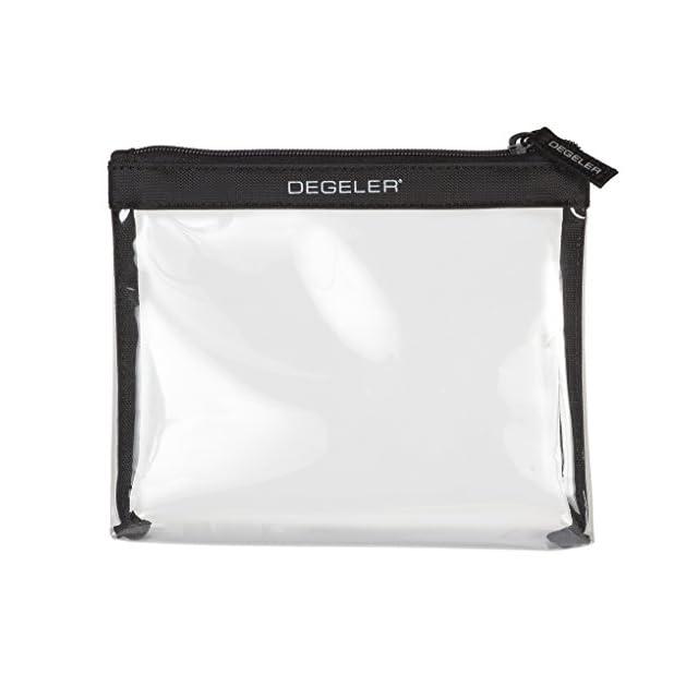 DEGELER Trousse de toilette transparente avec fermeture Éclair Convient pour transporter des liquides dans les bagages à main Idéale pour les voyages en avion et les excursions - noir