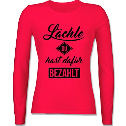 Laufsport - Lächle du hast dafür bezahlt - tailliertes Longsleeve / langärmeliges T-Shirt für Damen Rot