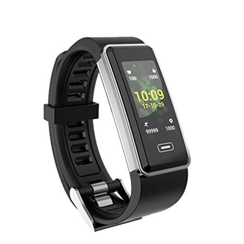 Fitness Armband mit Pulsmesser, Elospy GPS Aktivitätstracker, Wasserdicht IP67 Fitness Tracker, Pulsmesser Blutdruckmesser Schrittzähler Uhr Smartwatch Vibrationsalarm Anruf/SMS, für Damen Männer