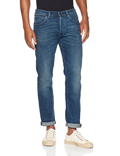 Lee Herren Straight Jeans Daren Zip Blau (Blue Moon Wvau)