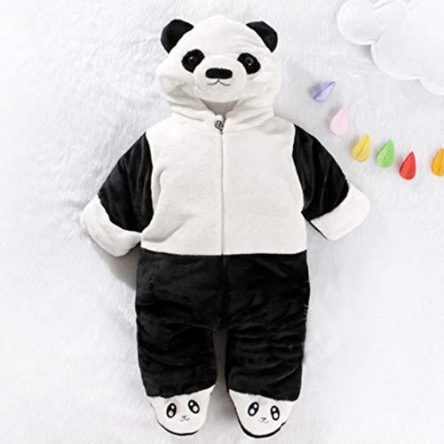 Baby Strampelanzug mit Füssen, Mütze für Jungen und Mädchen, mit Kapuze, für 0-24 Monate, Halloween, Cosplay-Kostüm, Schwarz, 80 cm (Halloween-kostüm 24 Monate)