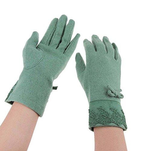 Damen Winter Handschuhe Elegante Fingerhandschuhe mit Bowknoten Warm Outdoor Strickhandschuhe für Radfahren