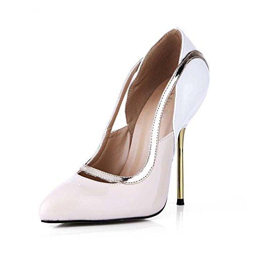 Glitter Heel High Green Schuhe (Klicken Sie auf Frauen fallen sexy Bankett neuer Punkt Frauen Schuhe Metall mit der high-heel Schuhe,)