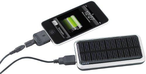 revolt Solar-Powerbank (3.000 mAh) für iPhone, Handy & USB-Geräte