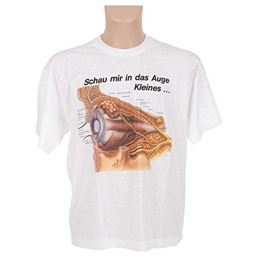 Rüdiger Kurzarm T-Shirt Auge, Anatomie Lernhilfe, Medizinische Lernmittel, Gr. XL -