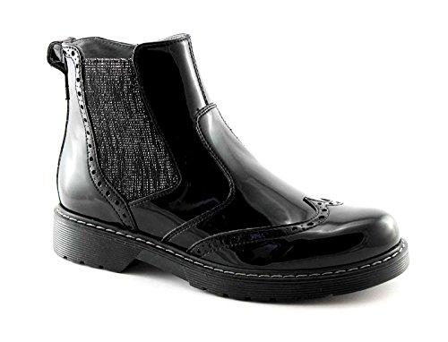 BLACK JARDINS JUNIOR 31802 noir chaussures bottes beatles fille zip Nero