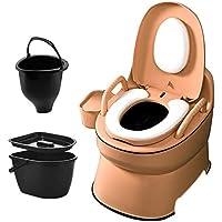 FREIHE Toilette portative, Commode pour Adulte, Camping pour Camping-Car, siège de Toilette Confortable pour Camping…