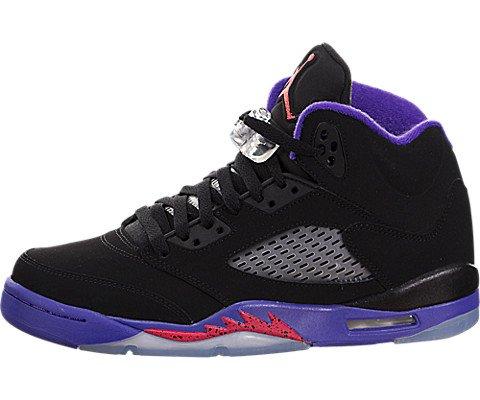 Nike Mädchen Air Jordan 5 Retro GG Basketballschuhe, Black (Schwarz/Ember Glow-Fierce Purple), 36 EU (Jordan Basketball-schuhe Mädchen)