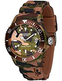 MADISON NEW YORK Unisexe Montre Candy Time® Camouflage Brun one size