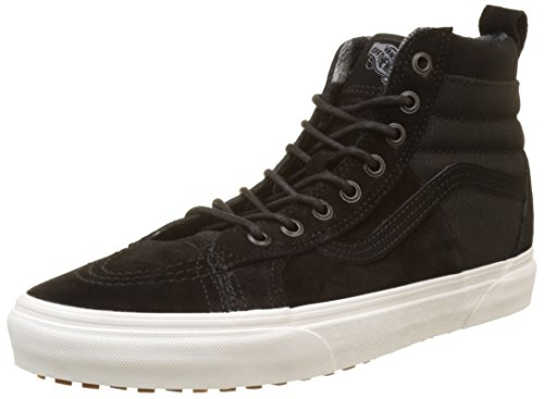 (Vans Herren Sk8-Hi 46 MTE DX Hohe Sneaker Schuhe, Schwarz (Black/Flannelmte), 43 EU)
