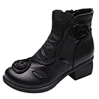 Women Ladies Boots Ankle Chelsea Winter Black Chukka Gothic Mid Calf PVC Leather Zip Low Chunky Block Heel Platform Combat Desert Size 3-7