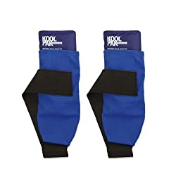 Koolpak Deluxe Reusable Hotcold Gel Pack - With Compress Wrap For Fast Pain Relief - Twin Pack