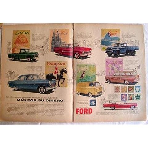 Antiguas 2 Hojas Publicidad Revista - Advertising Magazine Old 2 Sheet : COCHES FORD. Año 1959