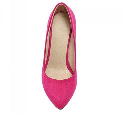 PBXP Pumps Wildleder Scarpin Stilett High Heel Spitz-Toe Frauen Arbeit Casual Schuhe Europa Größe Innerhalb Big Size 34-43 Blue