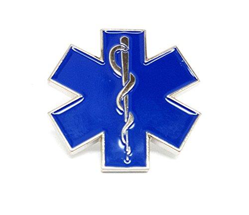 EMS-Logo, Stern des Lebens, Krankenhaus, Arzt, Krankenschwester, Emaille-Brosche, hochwertige Brosche für Krankenhaus-Mitarbeiter, Geschenk, EMT, RN MD -