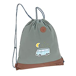 LÄSSIG Kinder Turnbeutel mit Kordelzug Rucksackfunktion Sportbeutel Schule Kindergarten/Mini String Bag, Adventure Bus, 39 cm, 10 L