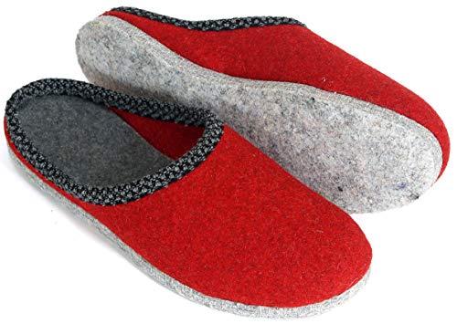 Pantoffelmann scarpetta in feltro rosso 39