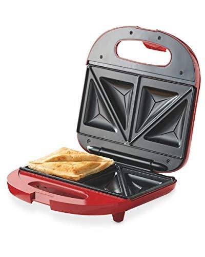 BK 750 W Sandwichmaker/Kontaktgrill als Sandwichtoaster, Paninigrill aus Edelstahl in Rot