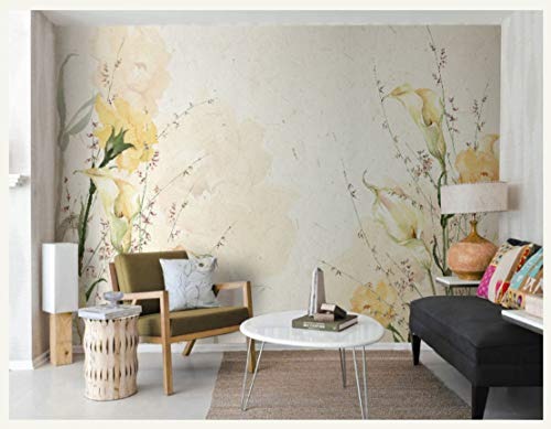 WH-PORP Hand-Malerei große benutzerdefinierte 3d Wall Murals Tapete für Esszimmer Blume Wandbild Hintergrund 3D Foto Wandbild-200cmX140cm