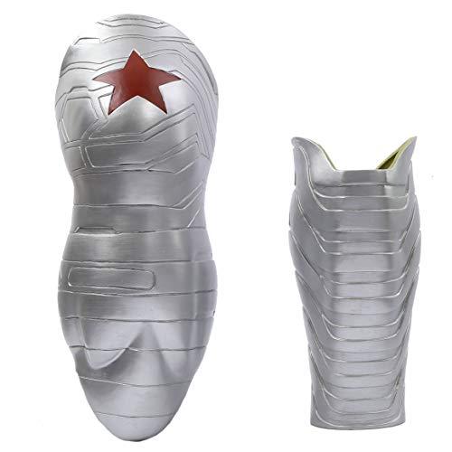 Soldier Erwachsene Für Winter Kostüm - Xcoser Halloween Bucky Arm Sleeve PVC Prop Film Cosplay Kostüm Replik für Erwachsene Herren verrücktes Kleid Merchandise Zubehör