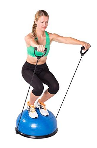 SportPlus Ø62 cm Balance Ball/Balance Trainer mit Zugbändern, beidseitig nutzbar, GS-geprüft, SP-GB-001 - 3