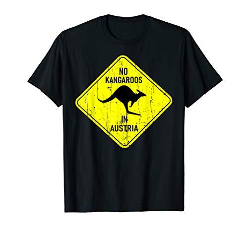 No Kangaroo in Austria - Kein Känguru in Österreich T Shirt (Australien T-shirt Damen)