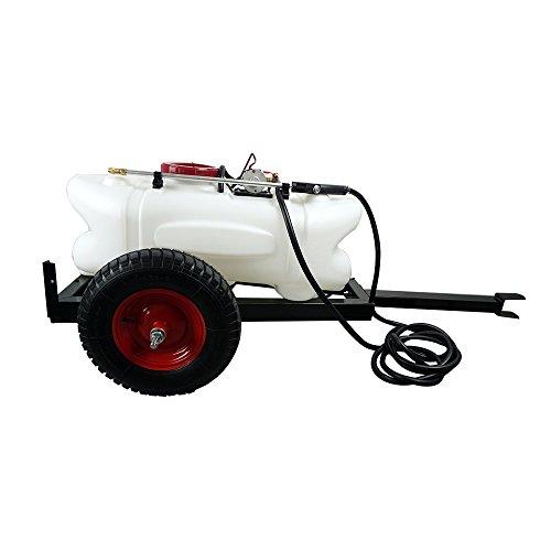 DCHOUSE Tow-Behind Sprayer Kit 60 Liter Tankpumpe 12 Volt 5 Meter Schlauch Hand Lance Car Sprüher - Akku-halterung Atv