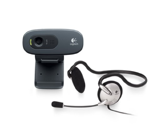 Logitech C270h HD Webcam and Stereo Headset