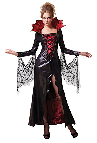 1Mitternacht Vampirin Kostüm, rot, UK Größe 10–14 (Dracula-kostüme Frauen)