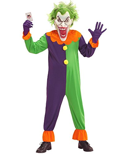 Costume clown evil joker travestimento halloween horror ps 25853-8/10 anni
