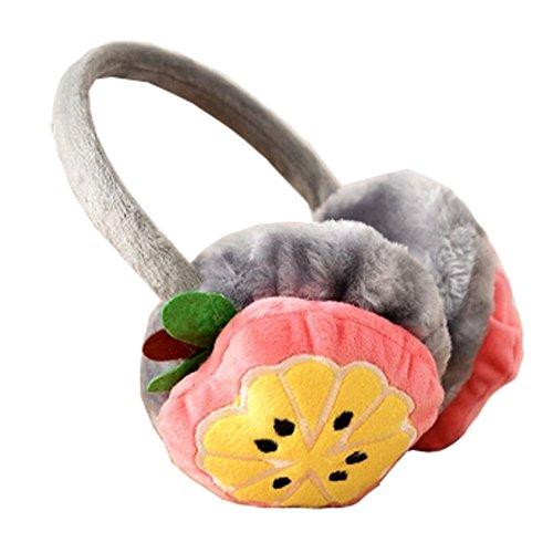 Mignon Oreille fruits Supersoft Manchons Cache-oreilles hiver, orange