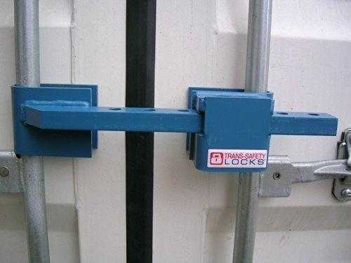 Container-Diebstahlsicherung TSR Basis inkl. 13mm Bügelschloss, Basis Containerriegel für Baucontainer, einbruchhemmender Containerverschluss