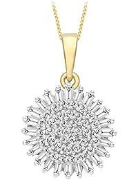 """Carissima 9 Karat Gelbgold 0.50 Karat Diamantsplitter  Anhänger an Kette 46cm/18"""" - 1.40.6194"""