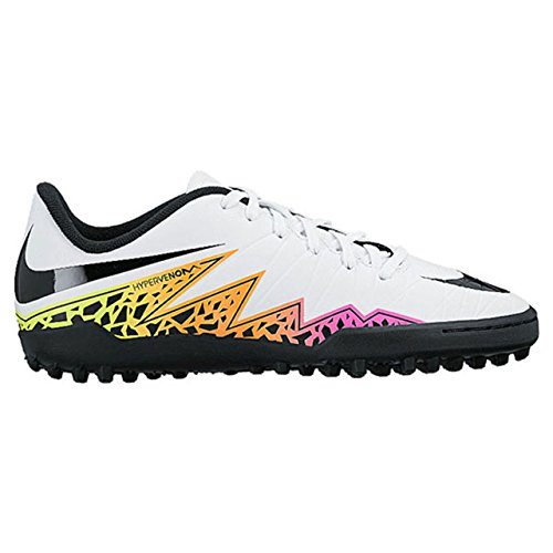 Nike Jr Hypervenom Phelon Ii Tf, Chaussures de Foot Mixte Bébé, 32 EU Blanc Cassé - Blanco (White / Black-Total Orange-Volt)