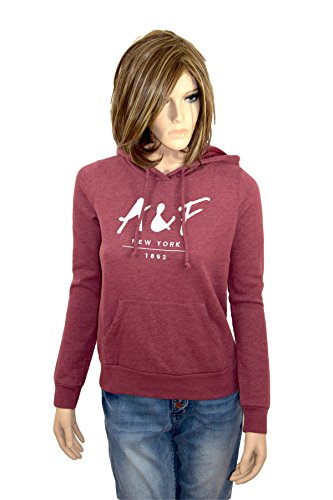 abercrombie-fitch-sweat-shirt-sweat-a-capuche-femme-rouge-rouge-bordeaux-m-rouge-medium