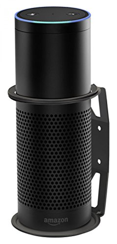 RICOO Amazon Echo Plus Halter Z046-B Standfuß Ständer Wandhalterung Alexa Kompatibel Zubehör Lautsprecher Box Wand Halterung Erste 1 Generation Smart Home Paar 2 Stück Schwarz