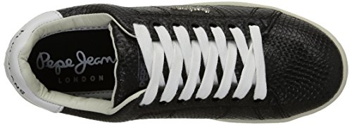 Pepe Jeans London Club Snake, Baskets mode femme Noir (999Black)