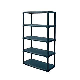Art Plast Plastic Shelf, Black, Black, T90/5